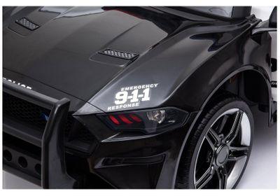 Kinderauto Police Fast&Power 12V Black Kinderfahrzeug elektrisch – Bild 6