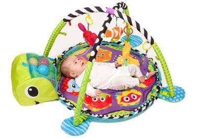 Baby Spielmatte Krabbeldecke Bällebad 3in1 Matte Lernteppich – Bild 1