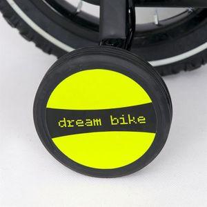 "Kinderfahrrad 12 Zoll ""Dream Bike"" Platinum Special Edition silver/yellow inkl. Fahrradkorb u. Stützrädern – Bild 4"