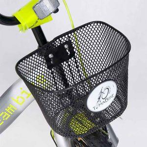 "Kinderfahrrad 12 Zoll ""Dream Bike"" Platinum Special Edition silver/yellow inkl. Fahrradkorb u. Stützrädern – Bild 7"
