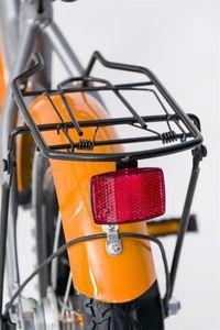"Kinderfahrrad 14 Zoll ""Dream Bike"" Platinum Special Edition silver/orange inkl. Fahrradkorb u. Stützrädern – Bild 4"