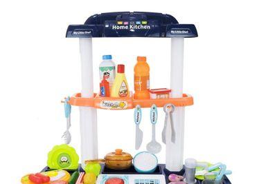 """Multifunktionelle Kinderküche """"My Little Chef Blue"""" mit viel Zubehör und Funktionen – Bild 3"""