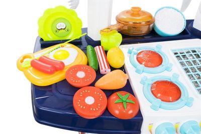 """Multifunktionelle Kinderküche """"My Little Chef Blue"""" mit viel Zubehör und Funktionen – Bild 4"""