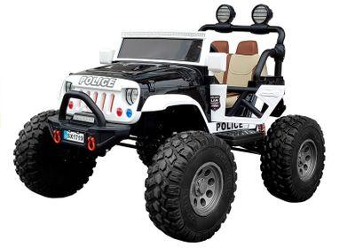 Elektroauto Offroad Police Edition 12V Allrad 4WD für zwei Kinder Kinderfahrzeug Exklusiv – Bild 2