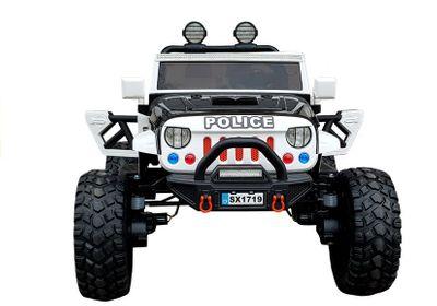 Elektroauto Offroad Police Edition 12V Allrad 4WD für zwei Kinder Kinderfahrzeug Exklusiv – Bild 7