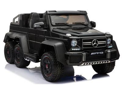 Luxus Kinderauto Mercedes Benz G65 AMG 12V Allrad 6WD black Kinderfahrzeug Elektroauto Kinder – Bild 1