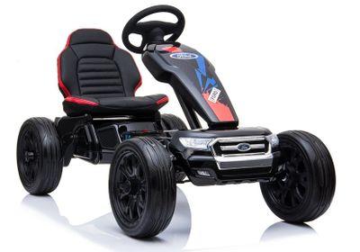 Kinderauto Go-Kart Ford Ranger 12V Black Kinderfahrzeug elektrisch Go Cart – Bild 1