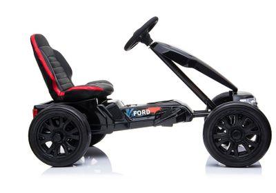 Kinderauto Go-Kart Ford Ranger 12V Black Kinderfahrzeug elektrisch Go Cart – Bild 4