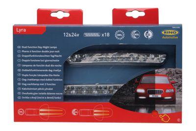 LED Tag/Nachtfahrlicht mit Doppelfunktion von Ring Automotive - je 18 LEDs FBRL0398