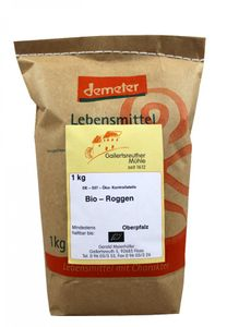 Bio Roggen 4x 1kg - Demeter Bio Roggenkörner unvermahlen – Bild 1