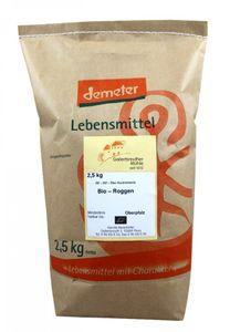 Bio Roggen 3x 2,5kg - Demeter Bio Roggenkörner unvermahlen Premium Qualität – Bild 1