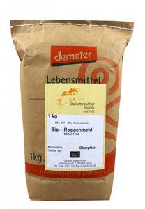 Bio-Roggenmehl mittel 4x 1kg - Demeter Bio Roggenmehl Type 1150 Premium Qualität – Bild 1