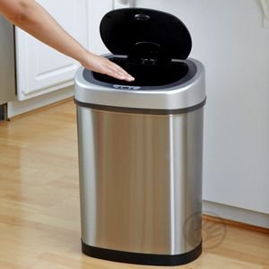 Sensor-Abfalleimer elektrisch (30 L) GYT 30-1 DeLuxe Mülleimer mit Infrarotsensor oval von Helpmation – Bild 3