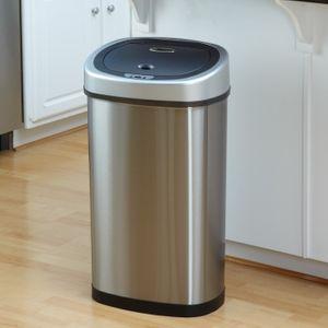 Sensor-Abfalleimer elektrisch (50 L) DZT 50-9 Mülleimer mit Infrarotsensor oval von Helpmation – Bild 3