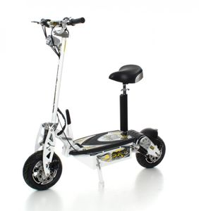 SXT1000 Turbo Elektro Scooter weiss | 36V 20Ah LiFePo4 Lithium Akku