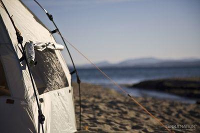 Strandschutz REKA KOHU Strandmuschel in drei verschiedenen Farben – Bild 10
