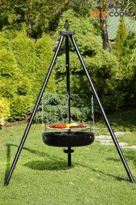 Schwenkgrill Dreibein Premium 50cm Edelstahlrost inkl. Feuerschale 60cm von Farmcook – Bild 9