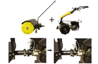 Kehrbesen 100cm für Texas Pro Trac 950 Universalmaschine – Bild 2