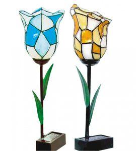 GartenGlück Handbemalte Solar-Blumen 2tlg – Bild 1