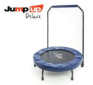 Jump Up Deluxe Fitness Trampolin m. Haltestange – Bild 1