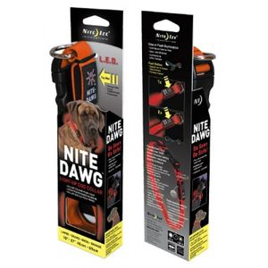 LED Hundehalsband LED Collar Leuchthalsband orange - in drei Größen (S-L) – Bild 1