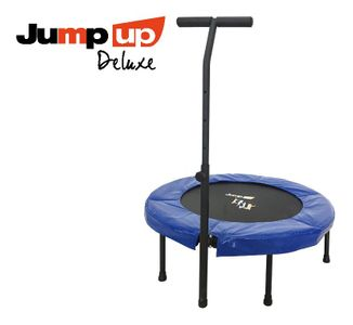 Jump Up Deluxe Fitness Trampolin T-Bar mit Haltestange – Bild 1