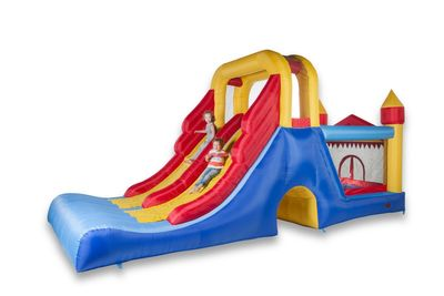 Hüpfburg Happy Bounce Double Mega Slide 4in1 Avyna – Bild 1