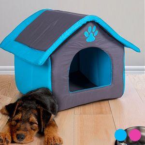 Stoffhaus für Haustiere mit herausnehmbarem Kissen - in zwei Farben erhältlich – Bild 3