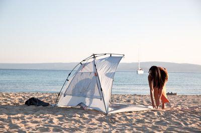 Strandschutz HARE KOHU PLUS Strandmuschel in 2 verschiedenen Farben – Bild 10