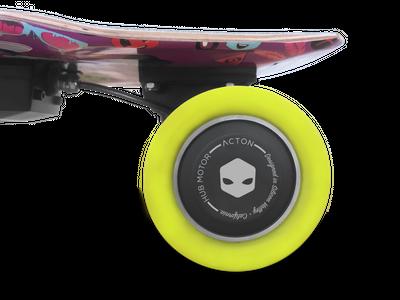 Acton Blink Board Elektroskateboard Purple Galaxy – Bild 5