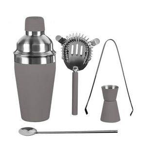 5-teiliges Premium Cocktail Set, grau