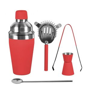 5-teiliges Premium Cocktail Set, rot