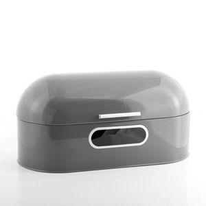 Brotkasten aus Metall im Retro-Design, grau