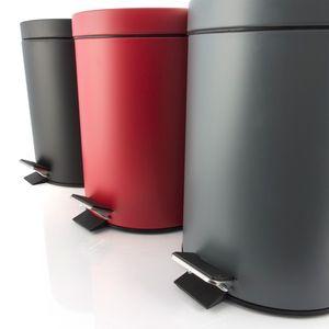Treteimer Abfalleimer 5 Liter aus Metall, rot – Bild 5