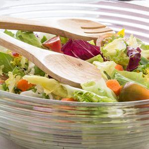 Salatschüssel mit Zubehör, 7-teiliges Set – Bild 3