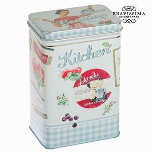 Küchen-Vorratsdose aus Metall, blau - Kitchen's Deco Kollektion – Bild 1