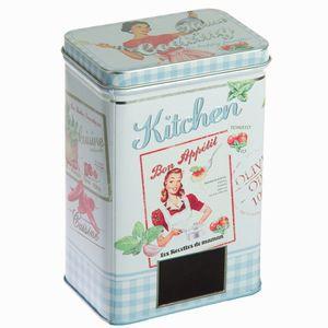 Küchen-Vorratsdose aus Metall, blau - Kitchen's Deco Kollektion – Bild 2