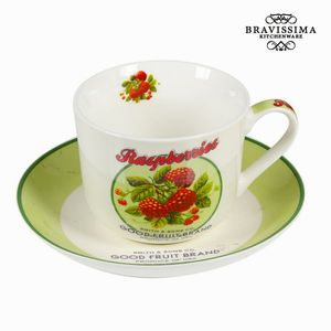 Tasse m. Untertasse und Box Fruit Brand - Kitchen's Deco Kollektion