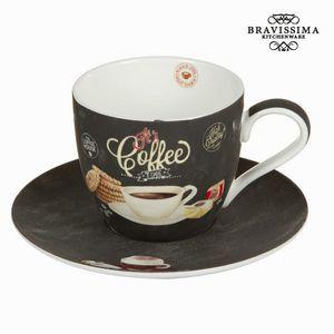 Tasse mit Untertasse It's Coffee Time - Kitchen's Deco Kollektion