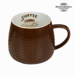 Schokoladenbraune Kaffeetasse - Kitchen's Deco Kollektion