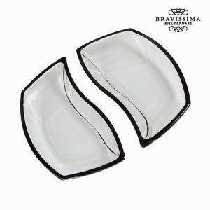 Set mit zwei schwarzen Glasschalen - Crystal Colours Kitchen Kollektion – Bild 1