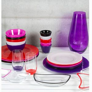 Set 4 pinke Glasschalen - Crystal Colours Kitchen Kollektion – Bild 2