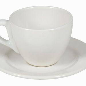 6-teiliges Set Teetassen mit Untertasse Creme - Kitchen's Deco Kollektion – Bild 2