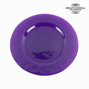Schlichter violetter Glasteller - Crystal Colours Kitchen Kollektion