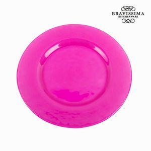 Schlichter rosaner Glasteller - Crystal Colours Kitchen Kollektion