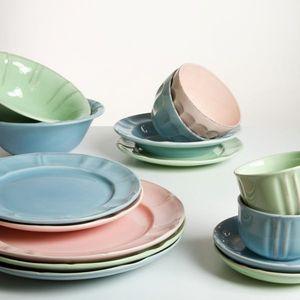 19-teiliges grünes Geschirrset Premium - Kitchen's Deco Kollektion – Bild 2