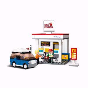 Bausteine Set Tankstelle (167 Teile)  – Bild 1