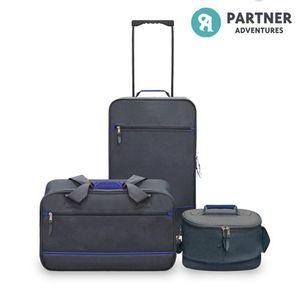 Koffer Set Premium (3-teilig) Dunkelgrau – Bild 1