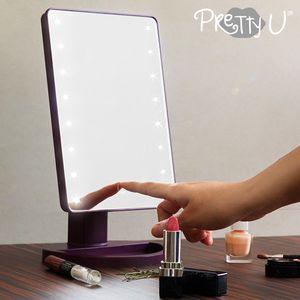 Design Tischspiegel mit LED-Beleuchtung - Schminkspiegel – Bild 2