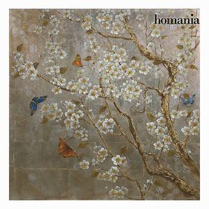 """Ölgemälde auf Leinwand """"Schmetterlinge im Baum"""", 100 x 100 cm"""